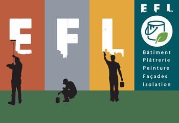 E.F.L. - Bâtiment, Plâtrerie Peinture, Façade, Isolation Logo